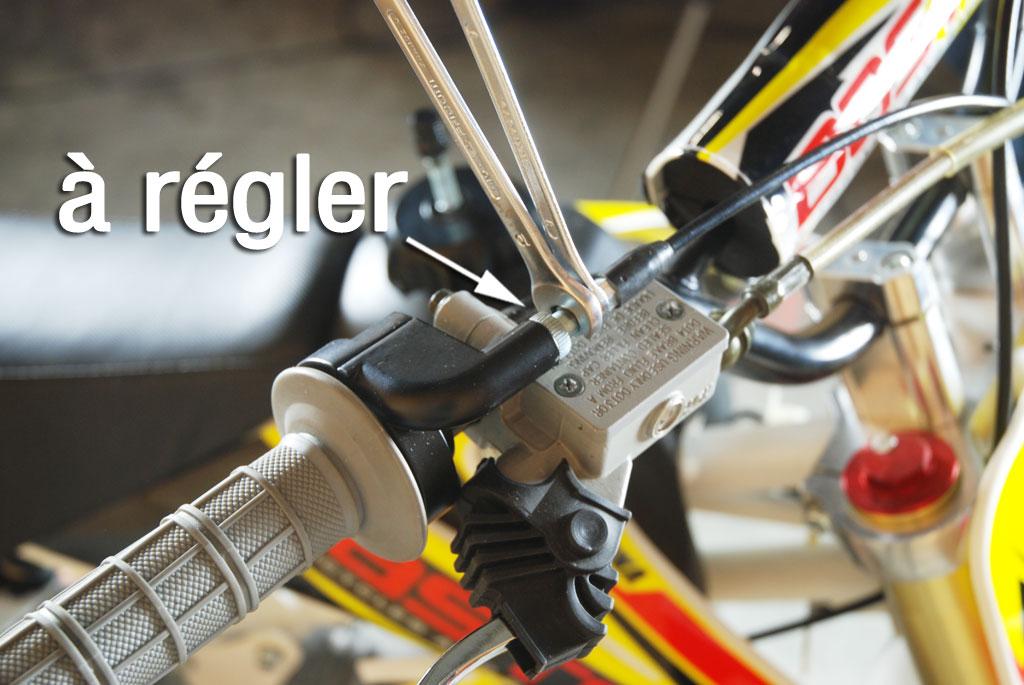 pit bike bastos bs 125 garde gachette gaz