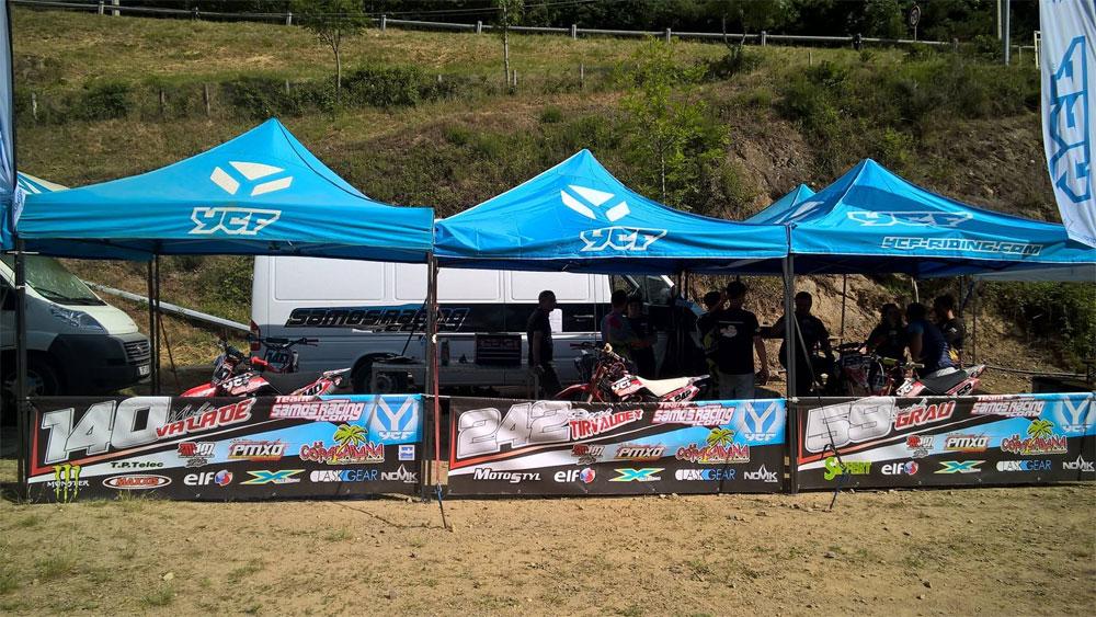 samos racing pit pike tente paddock