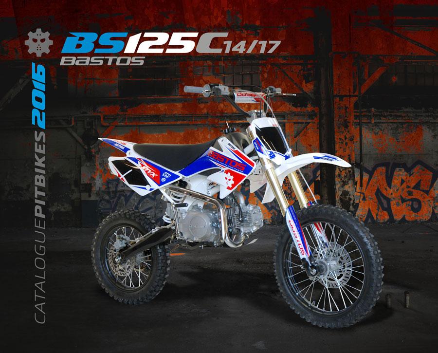 Pit Bike BASTOS BIKE BS 125 C édition 2016 grande roue