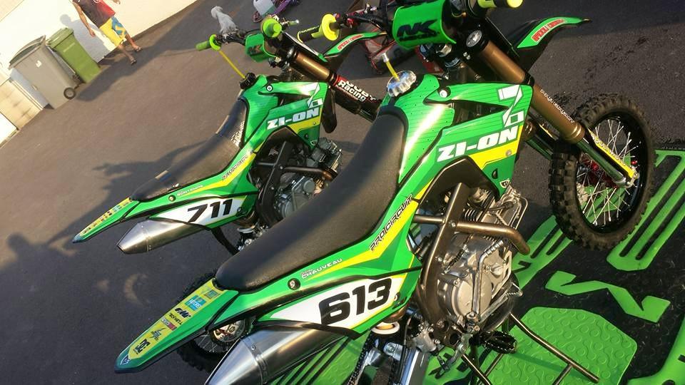 team-zi-on pit bike ycf