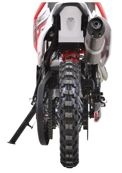 vue arrière CRZ 50s pit bike