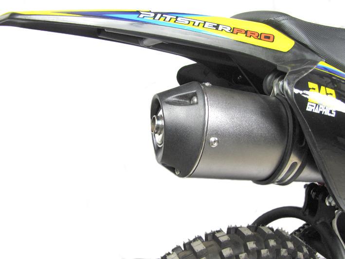 pit bike pitsterpro mx110 echappement