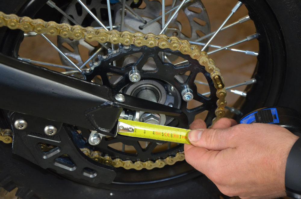 metre reglage roue pit bike
