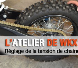 reglage tension chaine pit bike