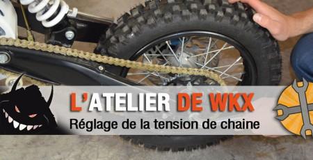 reglage tension chaine pit bike