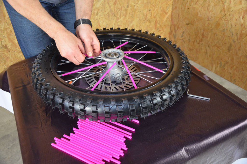 roue couvre rayon dirt bike