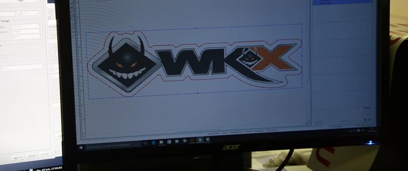 stickers wkx racing pit bike ordinateur