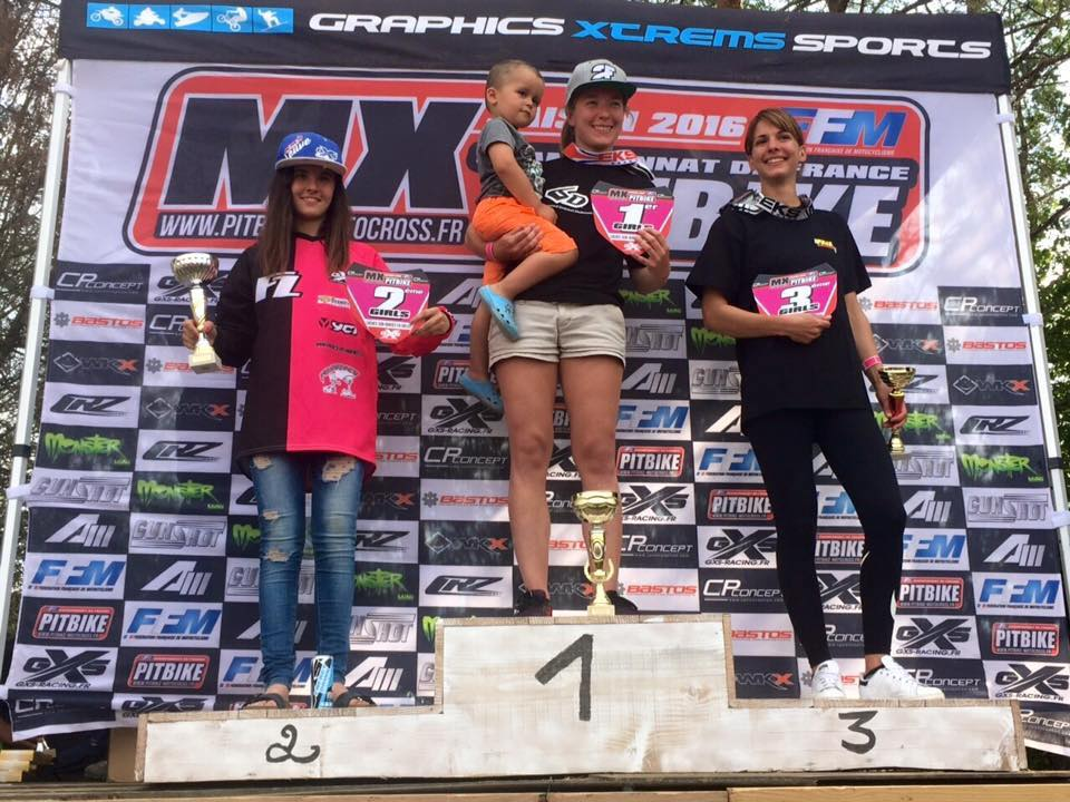 albane haubin podium pit bike