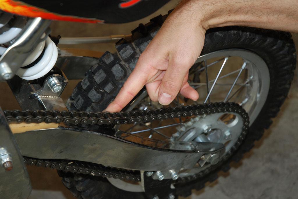 chaine pit bike