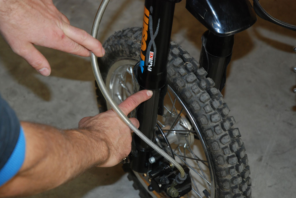 fourche pit bike