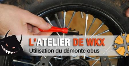 demonte obus pneu pit bike