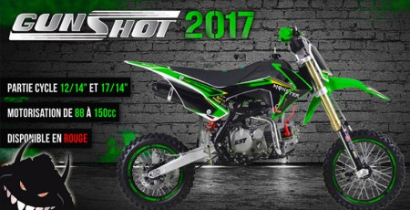 gamme dirt bike gunshot 2017