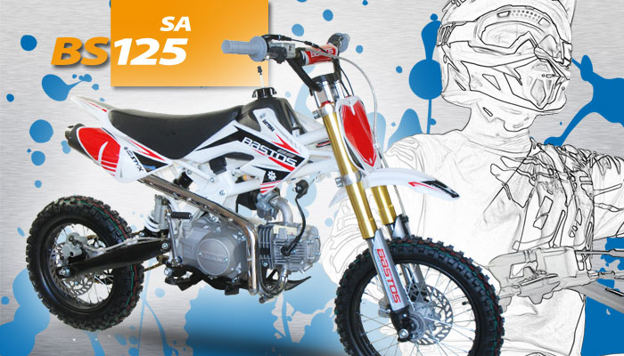 Pit Bike BS 125  SEMI AUTO BASTOS BIKE