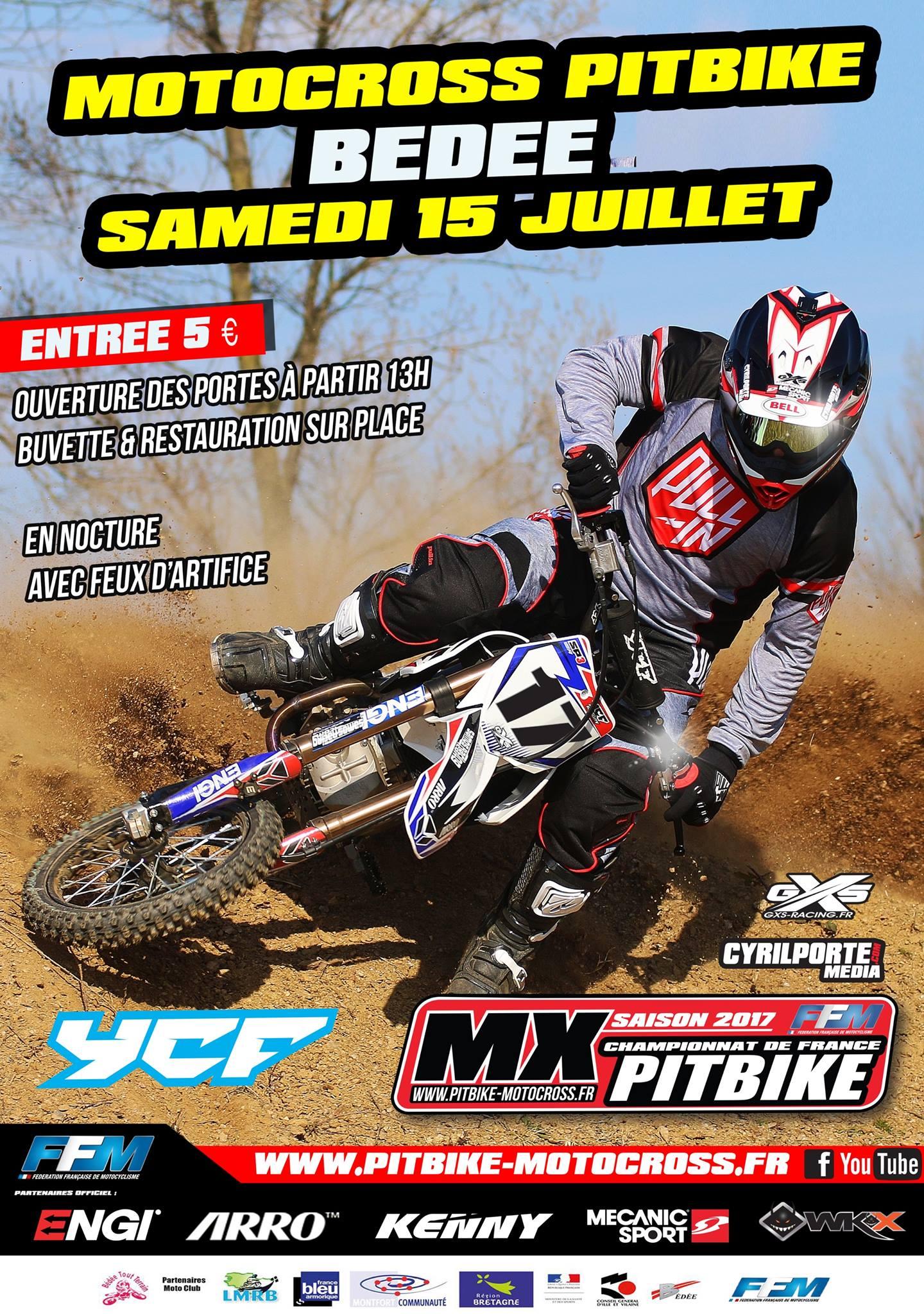 affiche bedee pit bike 2017