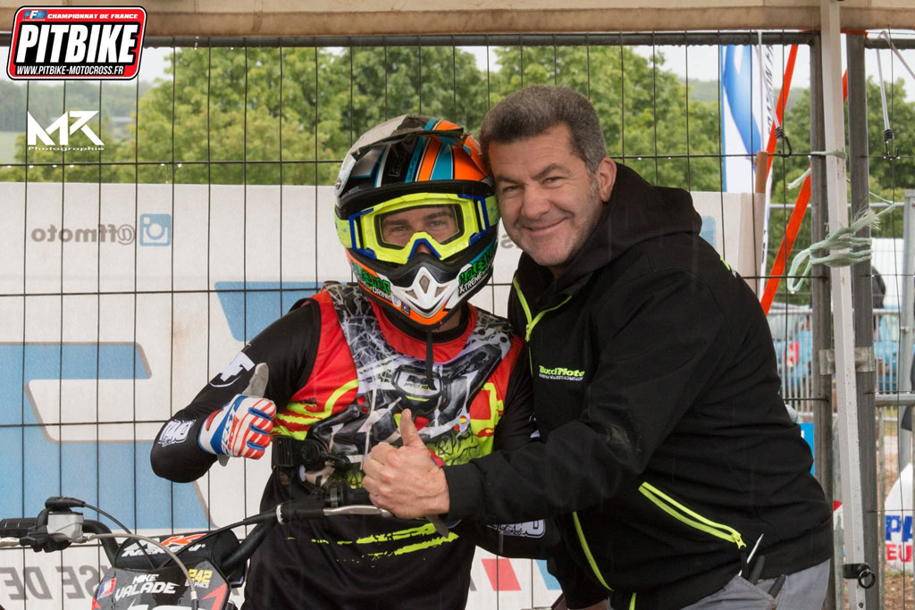 Mike valade bucci championnat france pit bike 2018 saint jean angely