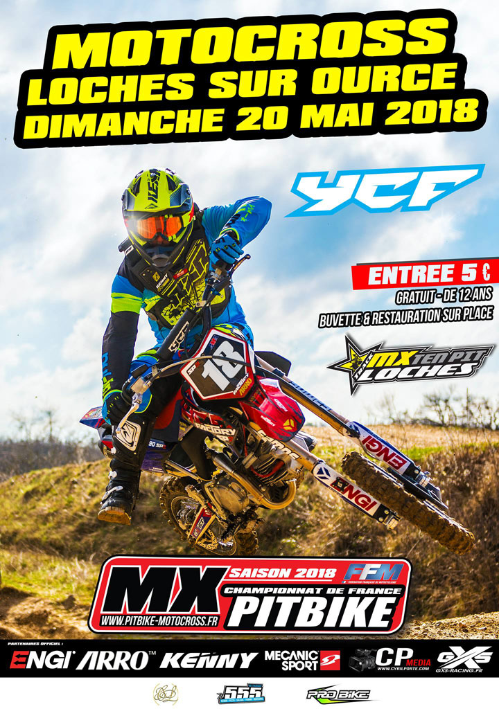 loches sur ource championnat france pit bike 2018